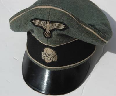 Ss Officers Rare Crusher Visor Cap Relics Of The Reich