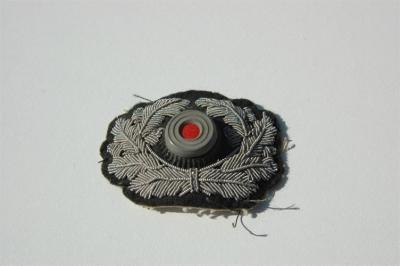 WWII GERMAN HEER ARMY OFFICER CRUSHER CAP COCKADE /& WREATH INSIGNIA SET-BULLION