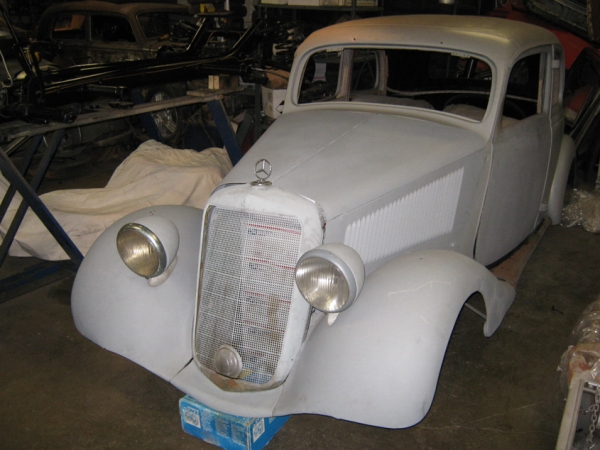 1939 mercedes benz german wwii 170v staff car partially for Mercedes benz of buckhead staff