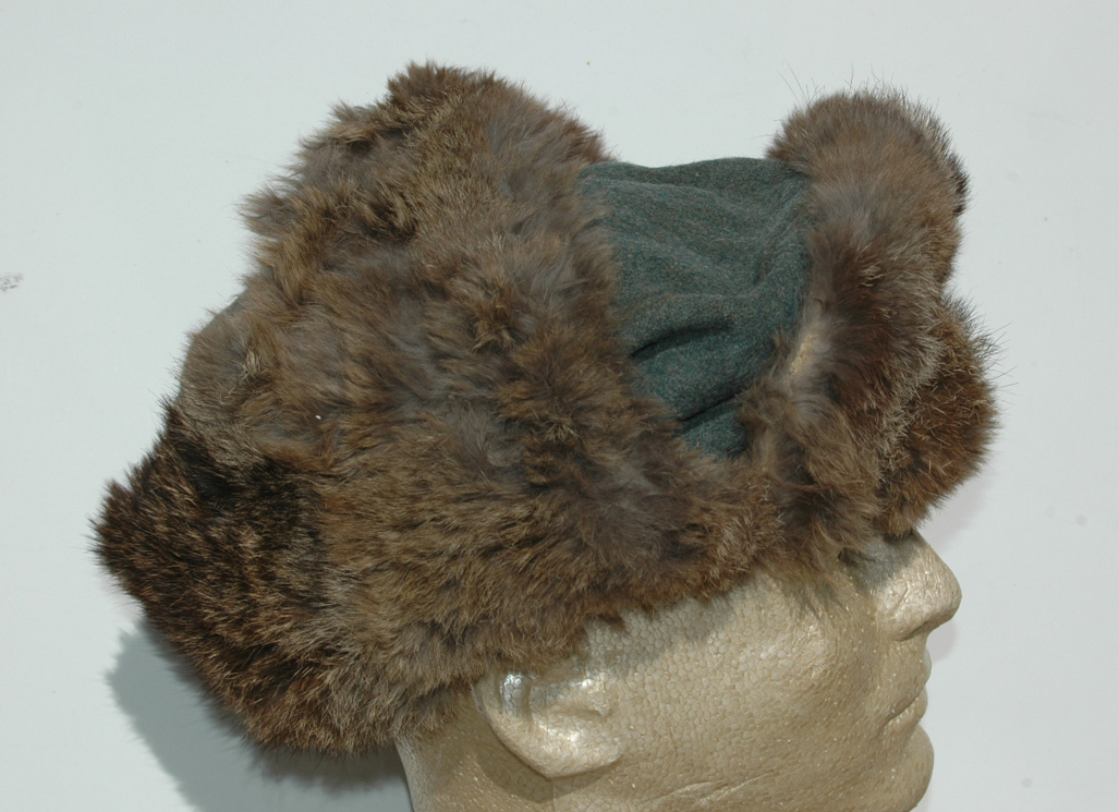 e0db70c77fd6e0 German WWII Army (HEER) Combat Worn Fur Cap - Relics of the Reich