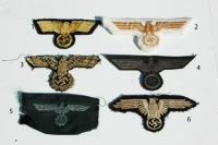 Reproduction German WWII Breast and Sleeve Eagles
