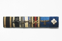 German 6 Place Ribbon Bar,  WWI and WWII Ribbons