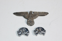 Reproduction German WWII SS Cap Eagle and Panzer Skulls