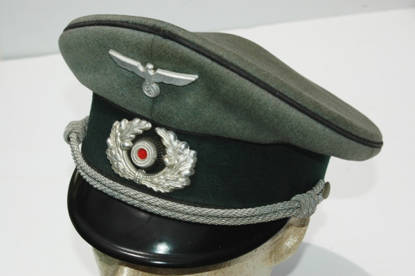 2ef58c9f826fd1 German WWII Army (HEER) Pioneer Officers Visor - Relics of the Reich