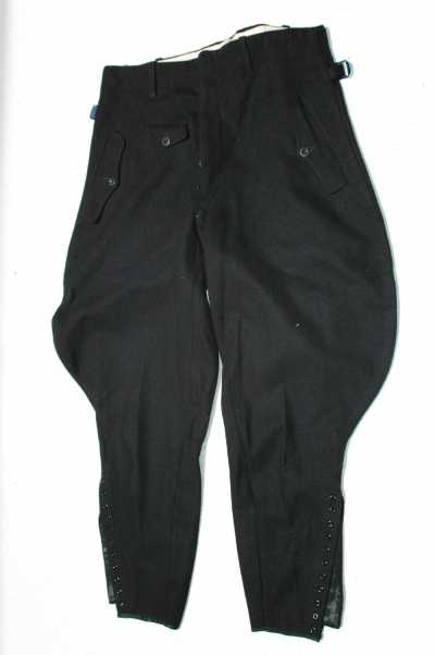 RARE German Hitler Youth Leaders Black Wool Trousers with Luftwaffe Stamp and RZM Tag