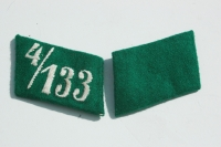 SA Collar Tab Set Unissued 4/133